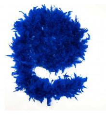 Боа из перьев, синее 60 г. купить в интернет магазине подарков ПраздникШоп