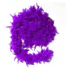 Боа из перьев, фиолетовое 60 г. купить в интернет магазине подарков ПраздникШоп