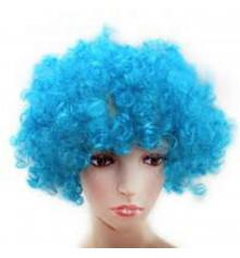 Парик клоуна ( диско) голубой купить в интернет магазине подарков ПраздникШоп