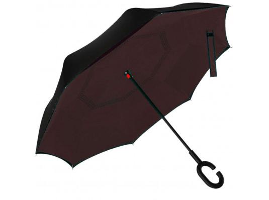 """Ветрозащитный зонт """"Up-Brella"""", коричневый купить в интернет магазине подарков ПраздникШоп"""