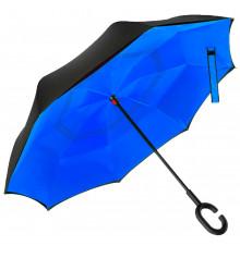 """Ветрозащитный зонт """"Up-Brella"""", синий купить в интернет магазине подарков ПраздникШоп"""