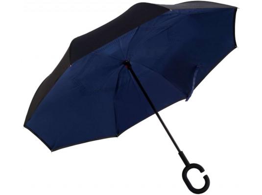 """Ветрозащитный зонт """"Up-Brella"""", темно-синий купить в интернет магазине подарков ПраздникШоп"""
