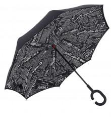 """Ветрозащитный зонт """"Up-Brella"""", journal black купить в интернет магазине подарков ПраздникШоп"""