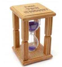 """Часы песочные в бамбуковой подставке """"Time is Money"""" купить в интернет магазине подарков ПраздникШоп"""