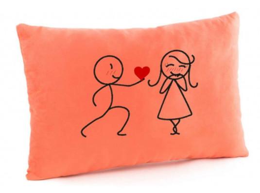 Подушка «Сердце в подарок», 4 цвета купить в интернет магазине подарков ПраздникШоп
