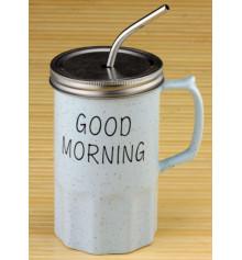 """Кружка - банка """"Good morning"""" купить в интернет магазине подарков ПраздникШоп"""