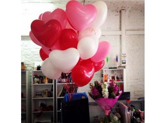 """Кулька з гелієм """"Серце"""" 25 см. купить в интернет магазине подарков ПраздникШоп"""