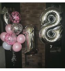 Фольгированная цифра 5 + Гелиевые шары и Звезды. купить в интернет магазине подарков ПраздникШоп