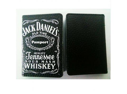 """Кожаная обложка для автодокументов, ID-карты """"Jack Daniel's"""" купить в интернет магазине подарков ПраздникШоп"""