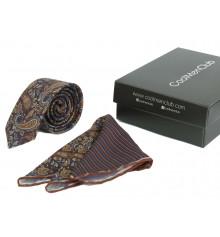 Подарочный набор для мужчин: галстук с платком, №3 купить в интернет магазине подарков ПраздникШоп