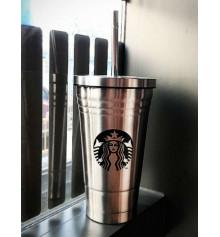 """Стакан с крышкой и трубочкой """"Starbucks"""" купить в интернет магазине подарков ПраздникШоп"""