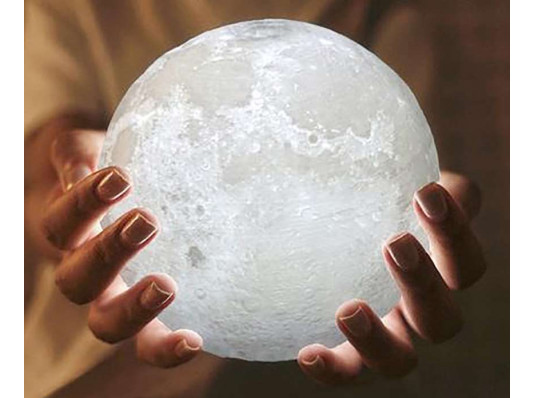 """3D Светильник """"Луна"""" 15 см купить в интернет магазине подарков ПраздникШоп"""