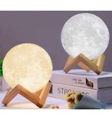 """3D Светильник """"Луна"""" 8 см купить в интернет магазине подарков ПраздникШоп"""