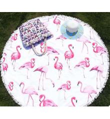 """Пляжный коврик """"Фламинго"""" купить в интернет магазине подарков ПраздникШоп"""