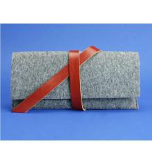 Тревел-кейс 1.0 фетр+кожа, коньяк купить в интернет магазине подарков ПраздникШоп