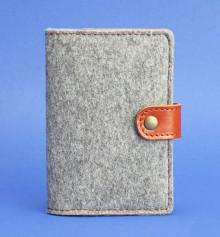 Обложка для паспорта 3.0 кожа + эко-фетр, коньяк купить в интернет магазине подарков ПраздникШоп