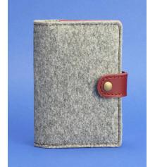 Обложка для паспорта 3.0 кожа + эко-фетр, виноград купить в интернет магазине подарков ПраздникШоп