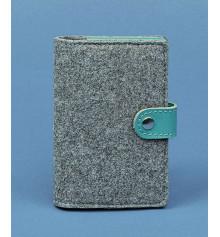 Обложка для паспорта 3.0 кожа + эко-фетр, тифани купить в интернет магазине подарков ПраздникШоп