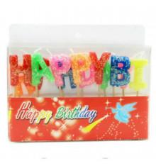 """Свечи-буквы """"Happy Birthday"""" купить в интернет магазине подарков ПраздникШоп"""