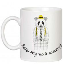 """Чашка """"Якщо мед, той ложкою"""" купить в интернет магазине подарков ПраздникШоп"""