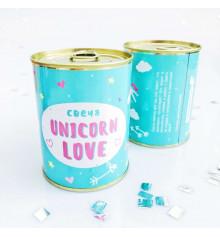 Свеча «Unicorn love» купить в интернет магазине подарков ПраздникШоп
