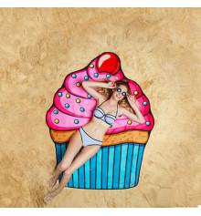 """Пляжный коврик """"Кекс"""" купить в интернет магазине подарков ПраздникШоп"""
