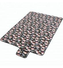 """Водонепроницаемый коврик для пикника """"Фламинго"""", черный купить в интернет магазине подарков ПраздникШоп"""