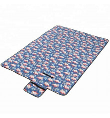 """Водонепроницаемый коврик для пикника """"Фламинго"""", синий купить в интернет магазине подарков ПраздникШоп"""
