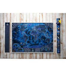 """Морская скретч-карта мира """"My Map Discovery edition"""" купить в интернет магазине подарков ПраздникШоп"""