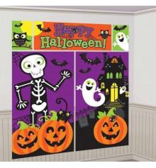 Декорация настенная Скелет и привидения купить в интернет магазине подарков ПраздникШоп