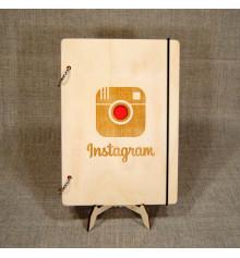 """Блокнот с деревянной обложкой """"instagram"""" купить в интернет магазине подарков ПраздникШоп"""