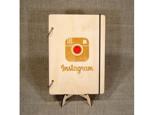 блокнот с деревянной обложкой Instagram