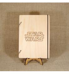 """Блокнот с деревянной обложкой """"Star Wars"""" купить в интернет магазине подарков ПраздникШоп"""