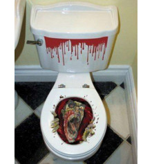 Наклейка на унитаз зомби купить в интернет магазине подарков ПраздникШоп