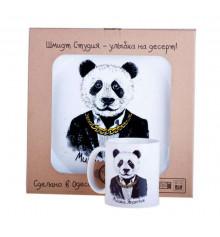 Набор чашка и тарелка  «Мишка Япончик» купить в интернет магазине подарков ПраздникШоп