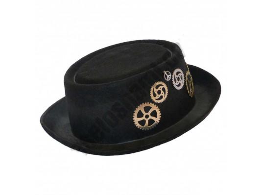"""Шляпа """"Стимпанк"""" с шестеренками купить в интернет магазине подарков ПраздникШоп"""