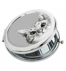"""Карманное зеркало """"Эй, кот"""" купить в интернет магазине подарков ПраздникШоп"""