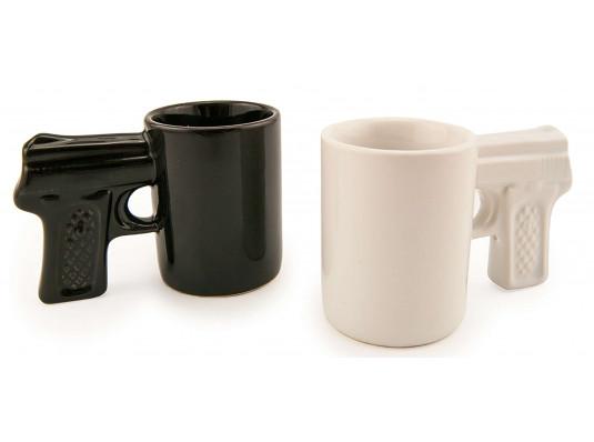 Чашка - пистолет - комплект 2 шт. купить в интернет магазине подарков ПраздникШоп