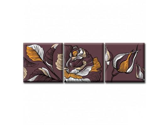 """Модульная картина """"Dark Rose"""" купить в интернет магазине подарков ПраздникШоп"""