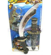 Пиратский набор (сабля, нож, повязка на глаз, серьга) купить в интернет магазине подарков ПраздникШоп