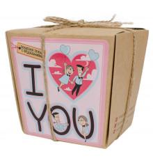 """Печеньки с предсказаниями """"I LOVE YOU!"""" купить в интернет магазине подарков ПраздникШоп"""