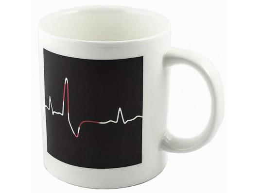 """Чашка """"heartbeat"""" ( биение сердца ) купить в интернет магазине подарков ПраздникШоп"""