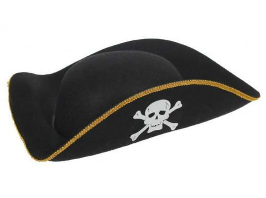 Треуголка Пирата фетр купить в интернет магазине подарков ПраздникШоп