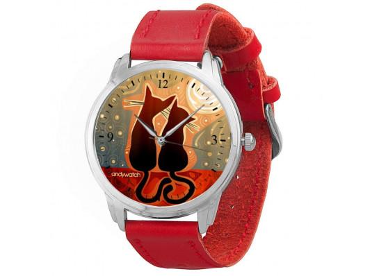 """Наручные часы """"Котики"""" купить в интернет магазине подарков ПраздникШоп"""