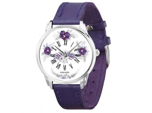 """Наручные часы """"Фиолетовые цветы"""" купить в интернет магазине подарков ПраздникШоп"""