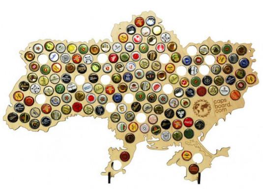 Пивная карта Украины с подставками купить в интернет магазине подарков ПраздникШоп