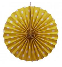 Веерный круг (картон) 40 см, желтый купить в интернет магазине подарков ПраздникШоп