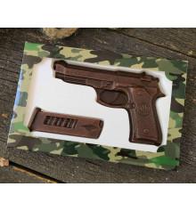 """Шоколадный набор """"Пистолет с обоймой"""" купить в интернет магазине подарков ПраздникШоп"""