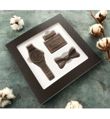 """Шоколадный набор """"Для стильного мужчины"""" купить в интернет магазине подарков ПраздникШоп"""