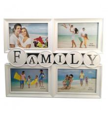 """Фоторамка """"FAMILY"""", 4 фото купить в интернет магазине подарков ПраздникШоп"""